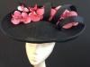 Couture by Beth Hirst Large Black Orchid Headpiece